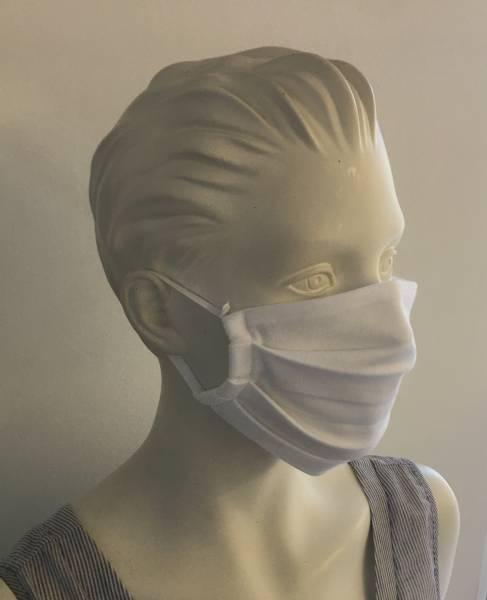 Behelfs-Mund-/Nasenmaske - UNI weiss 10er Pack
