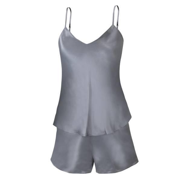 Seiden-Trägershirt - Sloane Street - grigio
