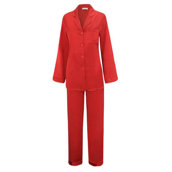 Seiden-Pyjama - Sloane Street - rosso